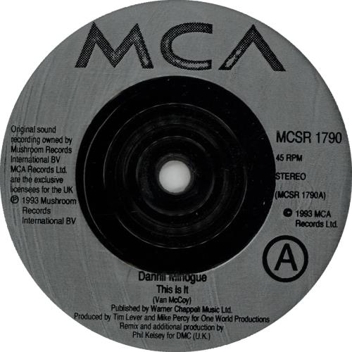"Dannii Minogue This Is It 7"" vinyl single (7 inch record) UK DAN07TH654266"