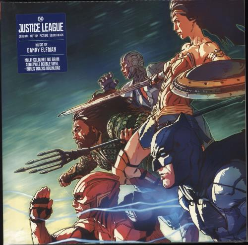 Danny Elfman Justice League - Black & Blue Marble 180 Gram Vinyl - Sealed 2-LP vinyl record set (Double Album) UK DXN2LJU736147