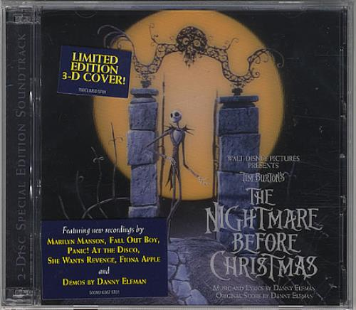 Danny Elfman The Nightmare Before Christmas 2 CD album set (Double CD) US DXN2CTH389749
