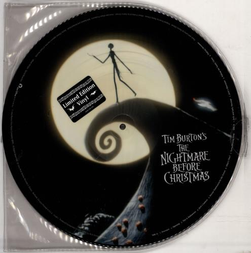Danny Elfman Tim Burton's The Nightmare Before Christmas picture disc LP (vinyl picture disc album) US DXNPDTI766488