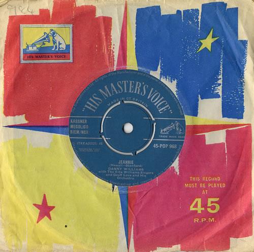 "Danny Williams Jeannie 7"" vinyl single (7 inch record) UK DW-07JE556013"