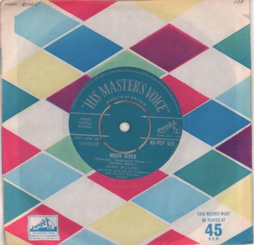 "Danny Williams Moon River - 1st 7"" vinyl single (7 inch record) UK DW-07MO491407"