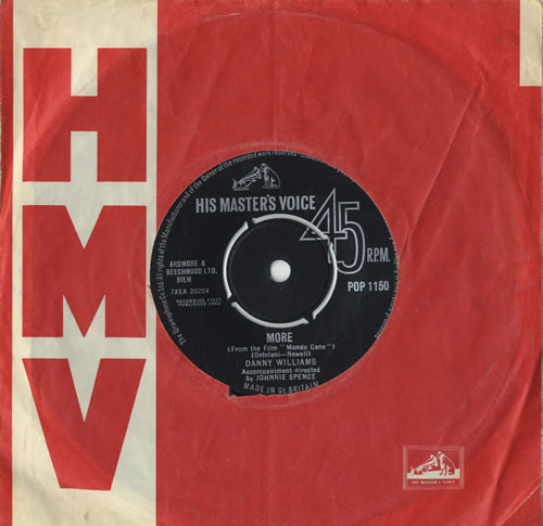 "Danny Williams More 7"" vinyl single (7 inch record) UK DW-07MO546112"