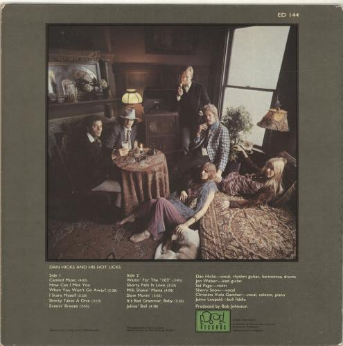 Dan Hicks Original Recordings vinyl LP album (LP record) UK DKZLPOR696337