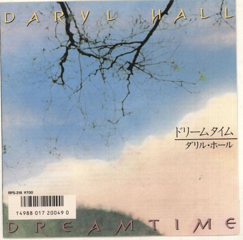 "Daryl Hall Dreamtime - Promo + Insert 7"" vinyl single (7 inch record) Japanese DRL07DR740004"