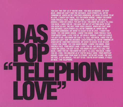 "Das Pop Telephone Love CD single (CD5 / 5"") UK DQVC5TE476068"