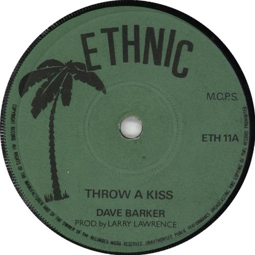 """Dave Barker Throw A Kiss 7"""" vinyl single (7 inch record) UK 0A007TH726903"""