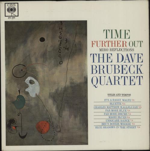 Dave Brubeck Time Further Out vinyl LP album (LP record) UK DBRLPTI676305
