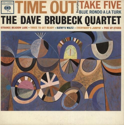 Dave Brubeck Time Out - Demo Stickered vinyl LP album (LP record) US DBRLPTI745431