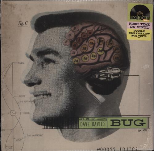 Dave Davies The Bug - Pink & Yellow Vinyl - RSD 2021 - Sealed 2-LP vinyl record set (Double Album) UK DDS2LTH771989