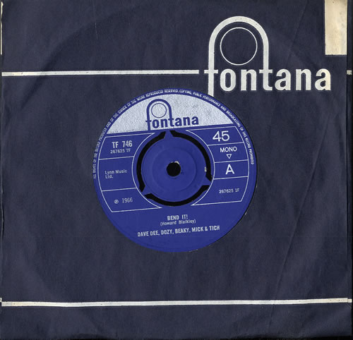 "Dave Dee, Dozy, Beaky, Mick & Tich Bend It! - 3pr 7"" vinyl single (7 inch record) UK DDD07BE552470"