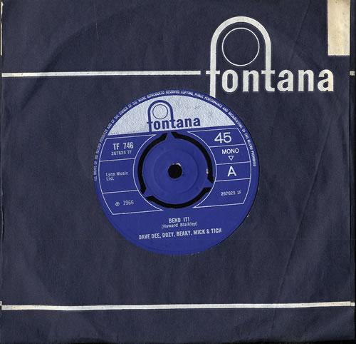 "Dave Dee, Dozy, Beaky, Mick & Tich Bend It! 7"" vinyl single (7 inch record) UK DDD07BE552470"