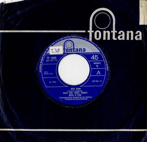 "Dave Dee, Dozy, Beaky, Mick & Tich Don Juan 7"" vinyl single (7 inch record) UK DDD07DO585905"