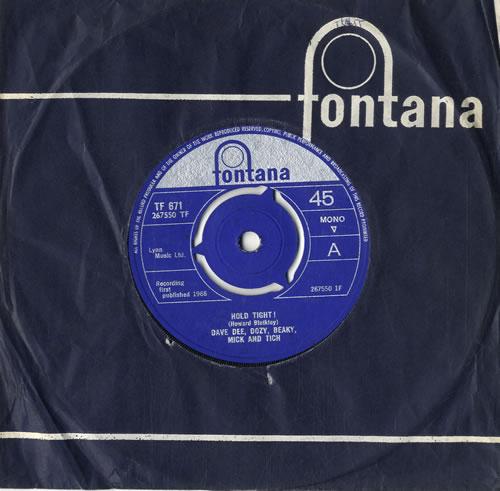 "Dave Dee, Dozy, Beaky, Mick & Tich Hold Tight! - 3pr 7"" vinyl single (7 inch record) UK DDD07HO596492"