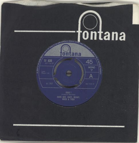 "Dave Dee, Dozy, Beaky, Mick & Tich Okay! - 3pr 7"" vinyl single (7 inch record) UK DDD07OK693640"