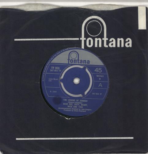 "Dave Dee, Dozy, Beaky, Mick & Tich The Legend Of Xanadu - 3pr 7"" vinyl single (7 inch record) UK DDD07TH709618"