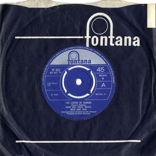 "Dave Dee, Dozy, Beaky, Mick & Tich The Legend Of Xanadu - 4pr 7"" vinyl single (7 inch record) UK DDD07TH558826"