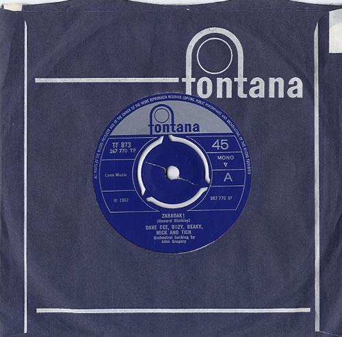 "Dave Dee, Dozy, Beaky, Mick & Tich Zabadak! - 3pr 7"" vinyl single (7 inch record) UK DDD07ZA592764"