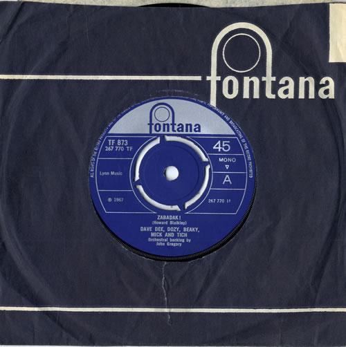 "Dave Dee, Dozy, Beaky, Mick & Tich Zabadak! - 4pr 7"" vinyl single (7 inch record) UK DDD07ZA558941"