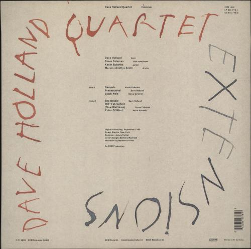 Dave Holland Extensions vinyl LP album (LP record) UK E56LPEX700256
