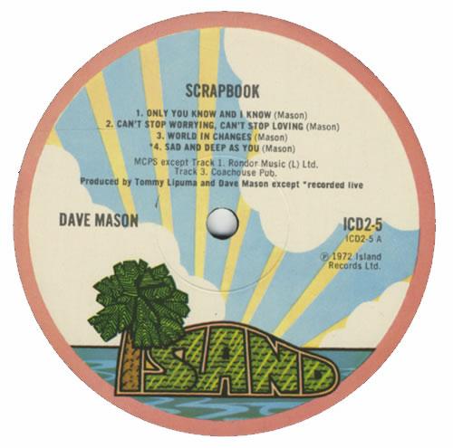 Dave Mason Scrapbook - 1st 2-LP vinyl record set (Double Album) UK DMS2LSC269302
