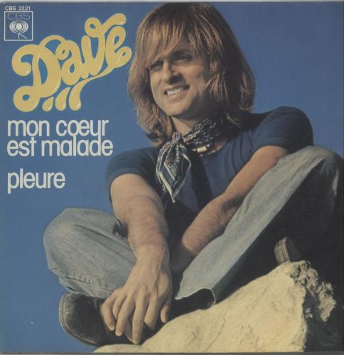 "Dave Mon Cœur Est Malade 7"" vinyl single (7 inch record) French IK207MO656903"