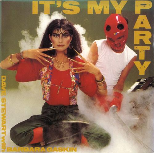 "Dave Stewart & Barbara Gaskin It's My Party 7"" vinyl single (7 inch record) UK D.B07IT617875"