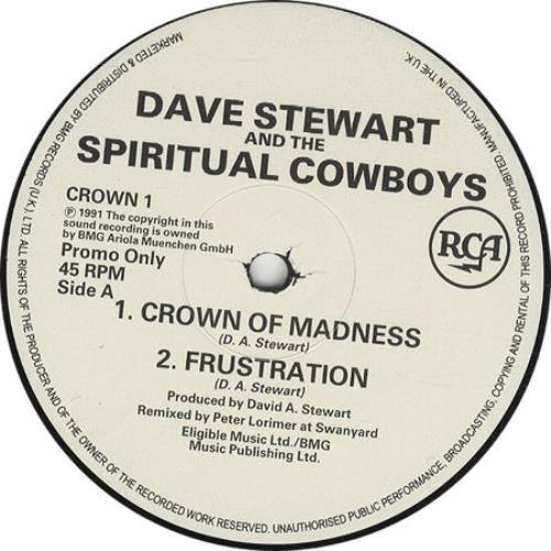 "David A. Stewart Crown Of Madness 12"" vinyl single (12 inch record / Maxi-single) UK STE12CR26294"