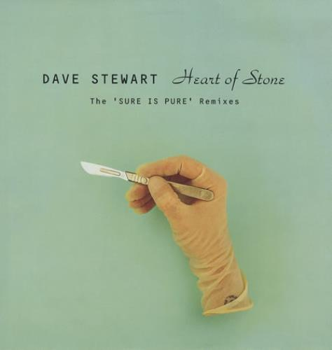 """David A. Stewart Heart Of Stone - Sure Is Pure Remixes 12"""" vinyl single (12 inch record / Maxi-single) UK STE12HE178199"""