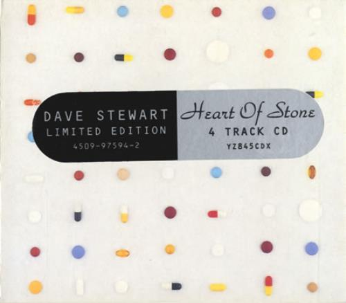 "David A. Stewart Heart Of Stone CD single (CD5 / 5"") UK STEC5HE33307"