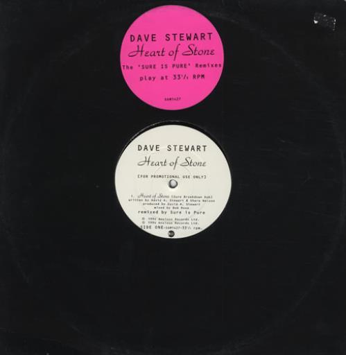 "David A. Stewart Heart of Stone 12"" vinyl single (12 inch record / Maxi-single) UK STE12HE429869"