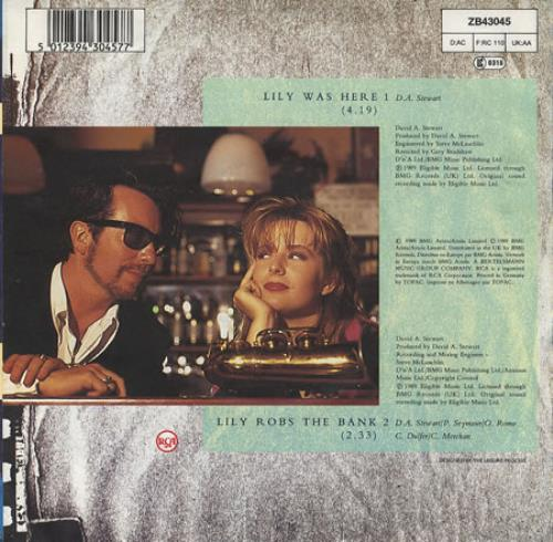 "David A. Stewart Lily Was Here 7"" vinyl single (7 inch record) UK STE07LI273101"