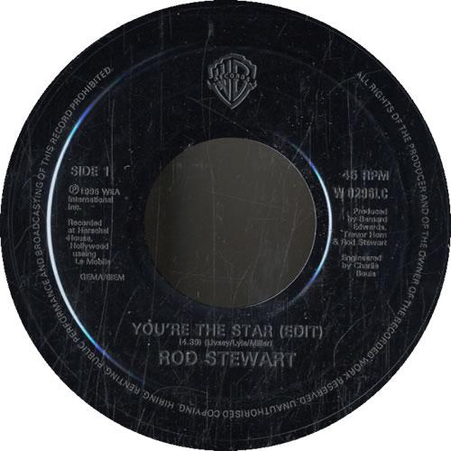 """David A. Stewart You're The Star - Jukebox 7"""" vinyl single (7 inch record) UK STE07YO606042"""