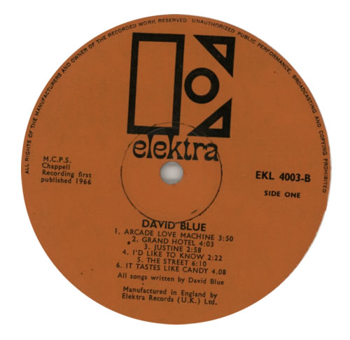 David Blue David Blue + Insert vinyl LP album (LP record) UK DVBLPDA594812