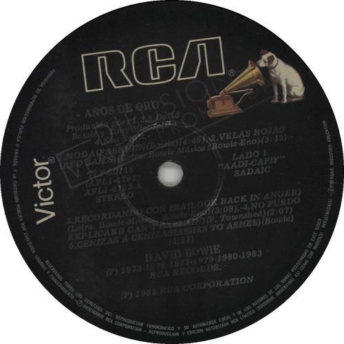 David Bowie Años De Oro vinyl LP album (LP record) Argentinean BOWLPAN235806