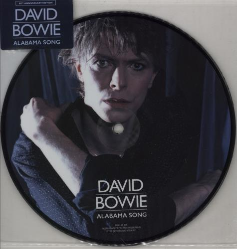 """David Bowie Alabama Song - 40th Anniversary Edition - Sticker Sealed 7"""" vinyl picture disc 7 inch picture disc single UK BOW7PAL751115"""