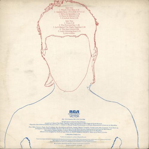 David Bowie Aladdin Sane - 2nd + insert - VG vinyl LP album (LP record) UK BOWLPAL718480