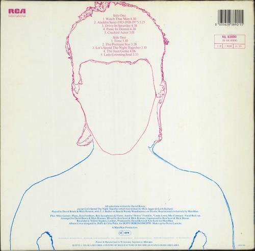 David Bowie Aladdin Sane vinyl LP album (LP record) German BOWLPAL772072