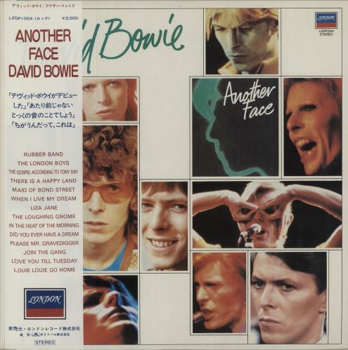 David Bowie Another Face vinyl LP album (LP record) Japanese BOWLPAN16479