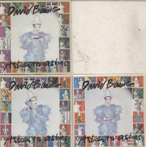 """David Bowie Ashes To Ashes - Set Of Three Sleeves 7"""" vinyl single (7 inch record) UK BOW07AS769404"""