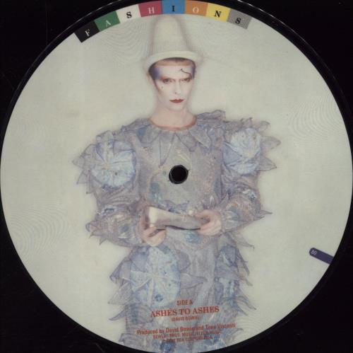 """David Bowie Ashes To Ashes 7"""" vinyl picture disc 7 inch picture disc single UK BOW7PAS767167"""