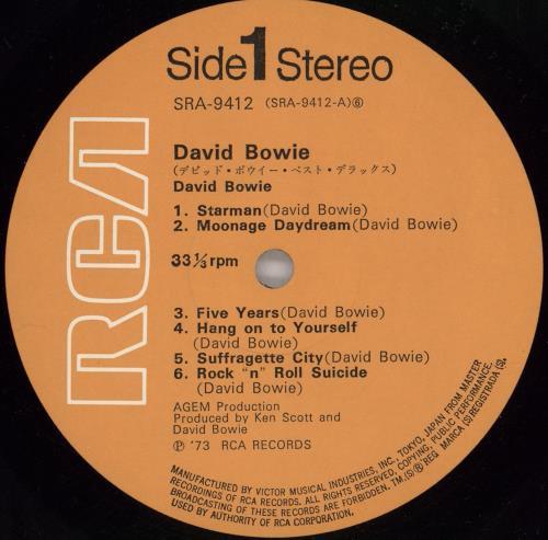 David Bowie Best Deluxe 2-LP vinyl record set (Double Album) Japanese BOW2LBE119762