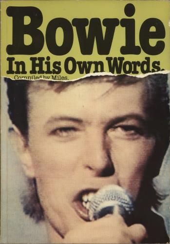 David Bowie Bowie In His Own Words book UK BOWBKBO623587