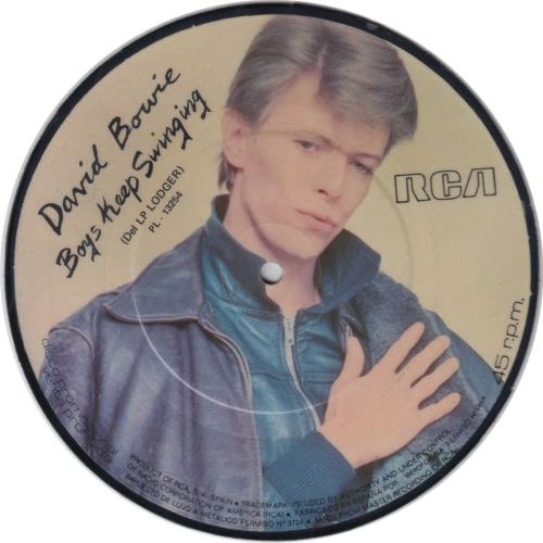 """David Bowie Boys Keep Swinging - RCA Sleeve 7"""" vinyl picture disc 7 inch picture disc single Spanish BOW7PBO356221"""