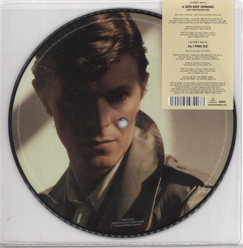 """David Bowie Boys Keep Swinging 7"""" vinyl picture disc 7 inch picture disc single UK BOW7PBO721582"""