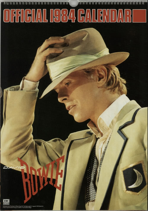 David Bowie Calendar 1984 Uk Calendar 626282 1984