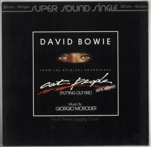 """David Bowie Cat People (Putting Out Fire) 12"""" vinyl single (12 inch record / Maxi-single) German BOW12CA281004"""