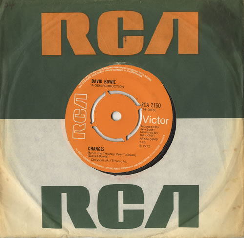 "David Bowie Changes - 4pr 7"" vinyl single (7 inch record) UK BOW07CH569136"