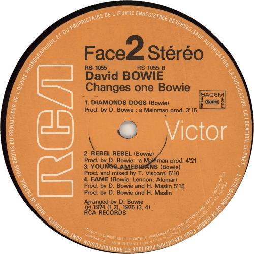 David Bowie Changesonebowie vinyl LP album (LP record) French BOWLPCH676794