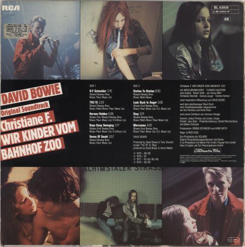 David Bowie Christiane F. - EX vinyl LP album (LP record) German BOWLPCH766985
